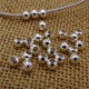 Round Brass Silver Iron Metal Beads With Hole