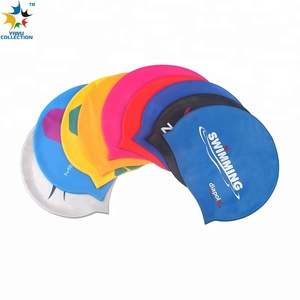 100pcs MOQ make a printing design your own funny adult flag custom silicone swim cap