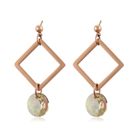 97543 xuping simple fashion dangling earring, dubai copper alloy fine jewelry crystals from Swarovski