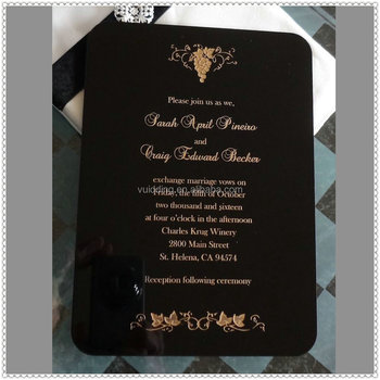 Personality Black Funeral Invitation Cards With Gold Engraving Buy Funeral Invitation Cards Funeral Invitation Cards Funeral Invitation Cards