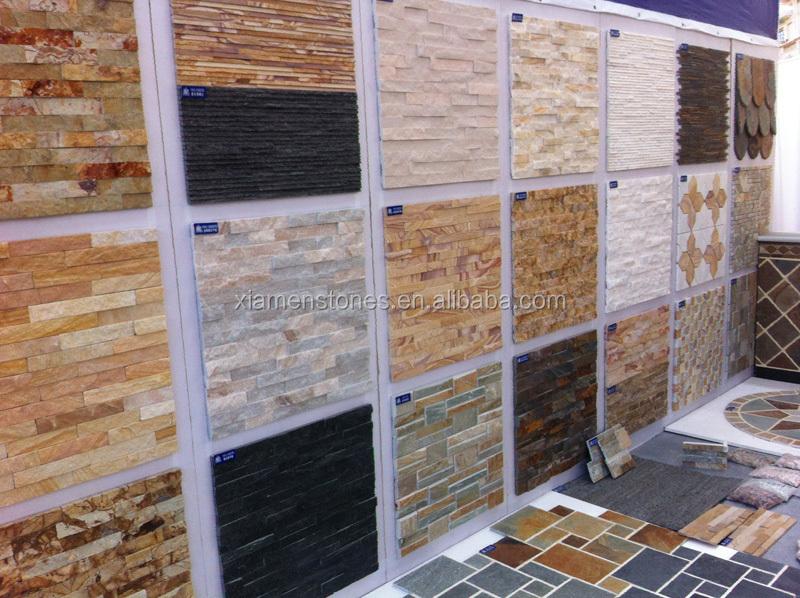 Cina pietra naturale esterno rivestimento della parete - Soleria imitacion madera ...