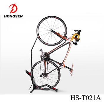 HS T021A Special Offer New Item Vertical Bike Stand Floor Display Bicycle  Rack For Parking