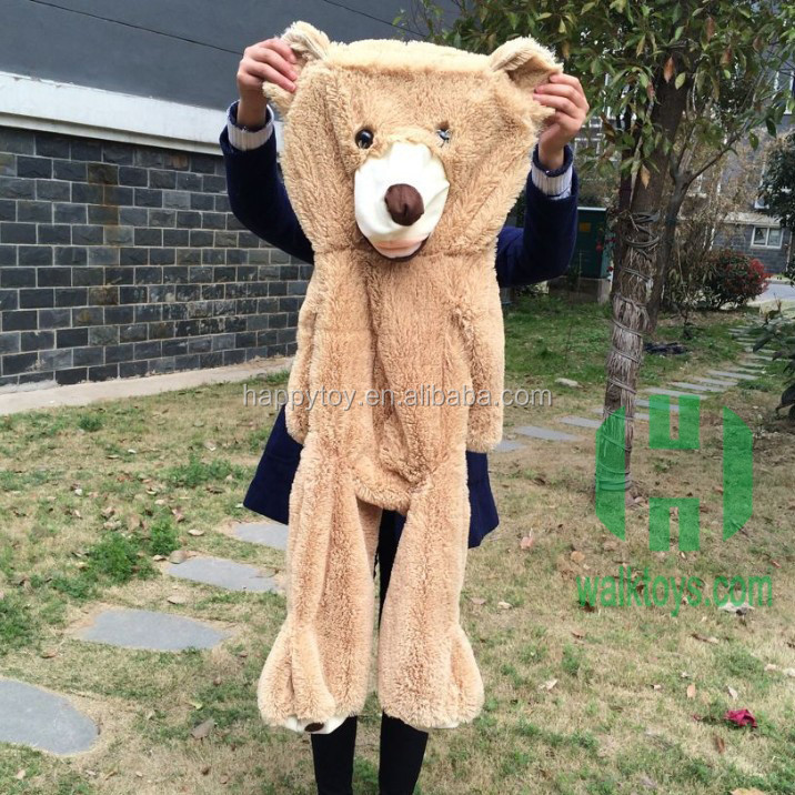 HI popular teddy bear toys unstuffed giant teddy bear skin for sale
