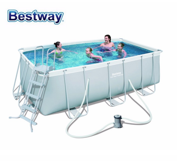 Bestway 56442 4.04mx2.01mx1m rectangular frame pool set power steel  swimming pools, View strong frame pool, Bestway Product Details from Wuhan  Huanyu ...
