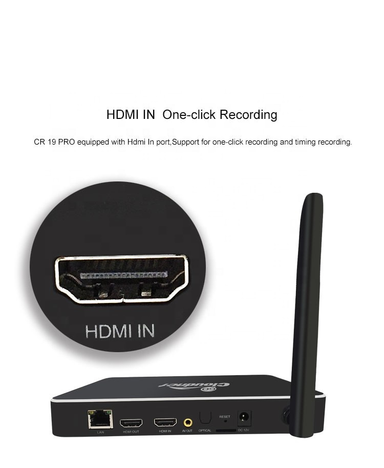 Newest Clodnetgo HD input and HD output 4k AC Wifi Gigabit Ethernet Realtek RTD1295 Record HDD Media <strong>Player</strong> with SATA