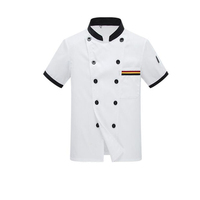 High quality Short sleeve chef uniform /Unisex chef coat For Restanrent/Bar/Hotel