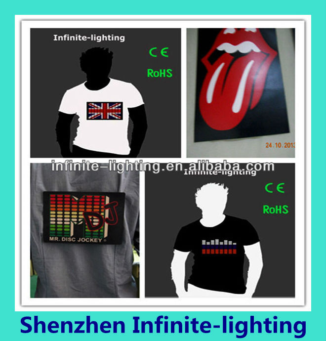 Hot Sale Sound Activated Led Cotton T Shirt Light Up And Down Flashing Equalizer El T-shirt Men For Rock Disco Party Dj Top Tee Handsome Appearance Back To Search Resultsnovelty & Special Use