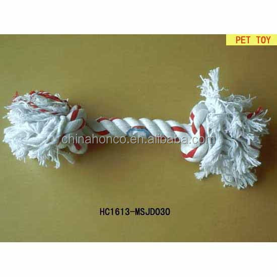 TPR Rubber pet dog toy with cotton rope