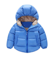 B511 New children's winter jacket Infant boys and girls cotton solid color hooded cotton coat casual