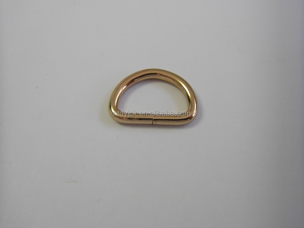 Hot koop hardware matal ovale ring D ring voor bag strap