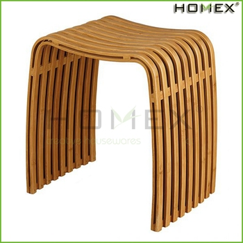 Simple Design Bamboo Bench For Shower Homex Bsci Fda Lfgb