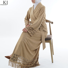 2018 simple fashion cut flowers design long sleeve dress new model abaya in dubai