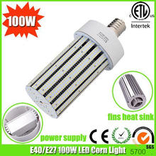 aluminimum fins heat sink 100w led lamp 360 degree led corn light