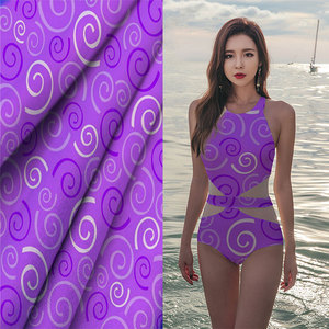 Stretch Nylon Spandex Jersey Stripe Ribbed Swimwear Fabric For New Design Garment Lingerie Swimwear