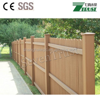 High Quality Wood/bamboo Fencing Wpccomposite Fencing - Buy Wpc Fence  Panels,Temporary Fence Panel,Waterproof Corrosion Resistant Anti-uv Product  on