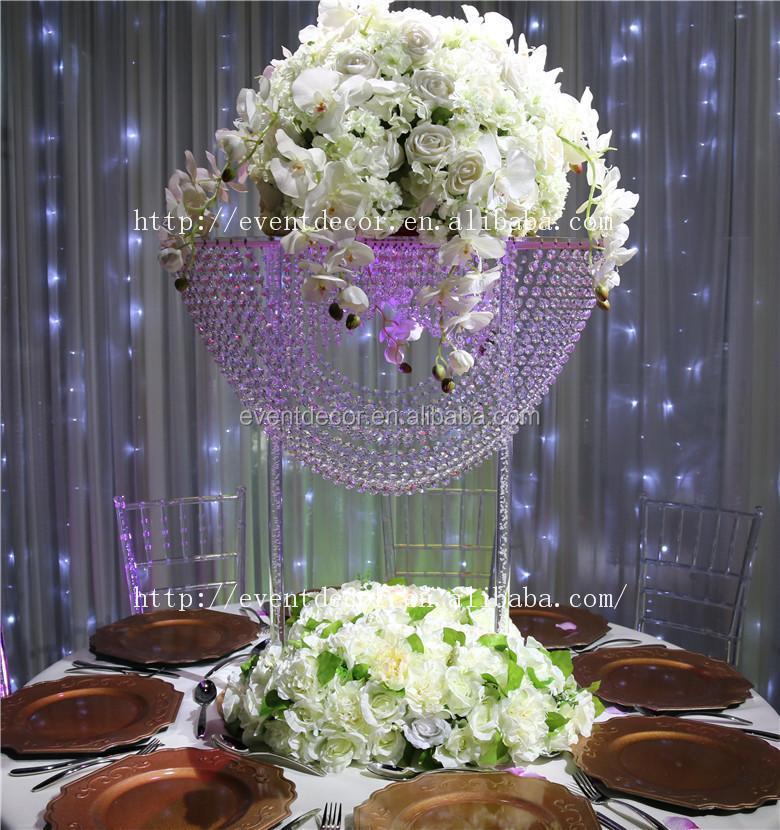 Mesas de cristal para bodas mesa de honor iluminada para for Mesas de cristal para bodas