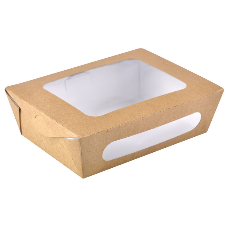 Free Sample Disposable Salad Rectangular Fruit Sushi Takeaway Box Paper