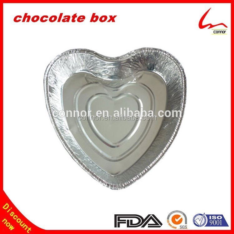 Household Kitchen Used Disposable Heart Shape Aluminium Foil Container
