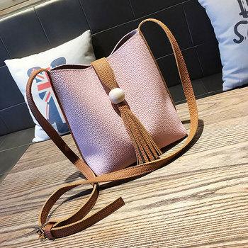 0a8b0bbf74 2017 Korea fashion latest tassel ladies bucket crossbody bags handbag at low  price