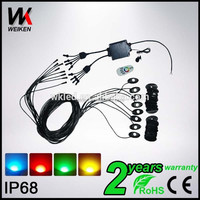 factory price ip68 underbody led flood deck light car accessories truck led rock light Kit -8