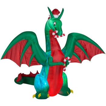 outdoor christmas ornaments kaleidoscope dragon with santa hat