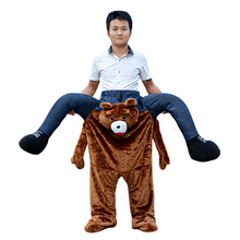 Oktoberfest Beer Festival Bear Costume /bavarian beer guy ride on mascot costume for Hot Sale