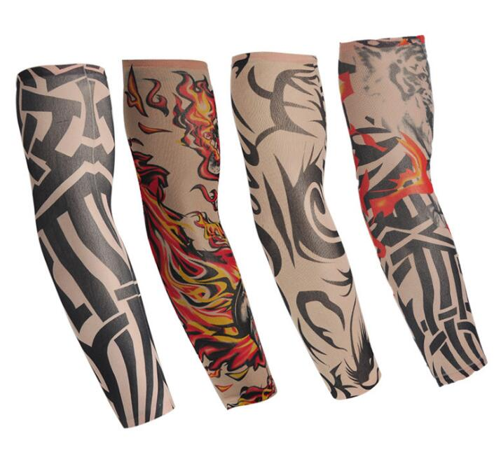 6pcs Set Body Art Arm Stockings Slip Accessories Fake Temporary Half Tattoo Sleeves with wholesale