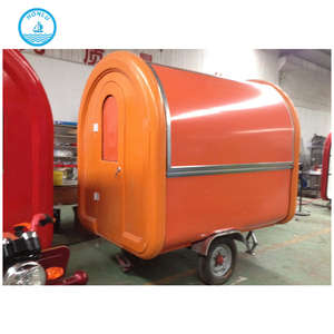 Big food trucks high quality China mirror stainless steel towbar food trailers for sale