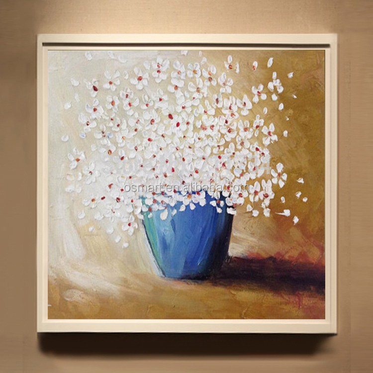 Pop Selling Good Quality Abstract Vase Flower Oil Painting On Canvas Hand-painted Oil Flowers Painting For Living Room