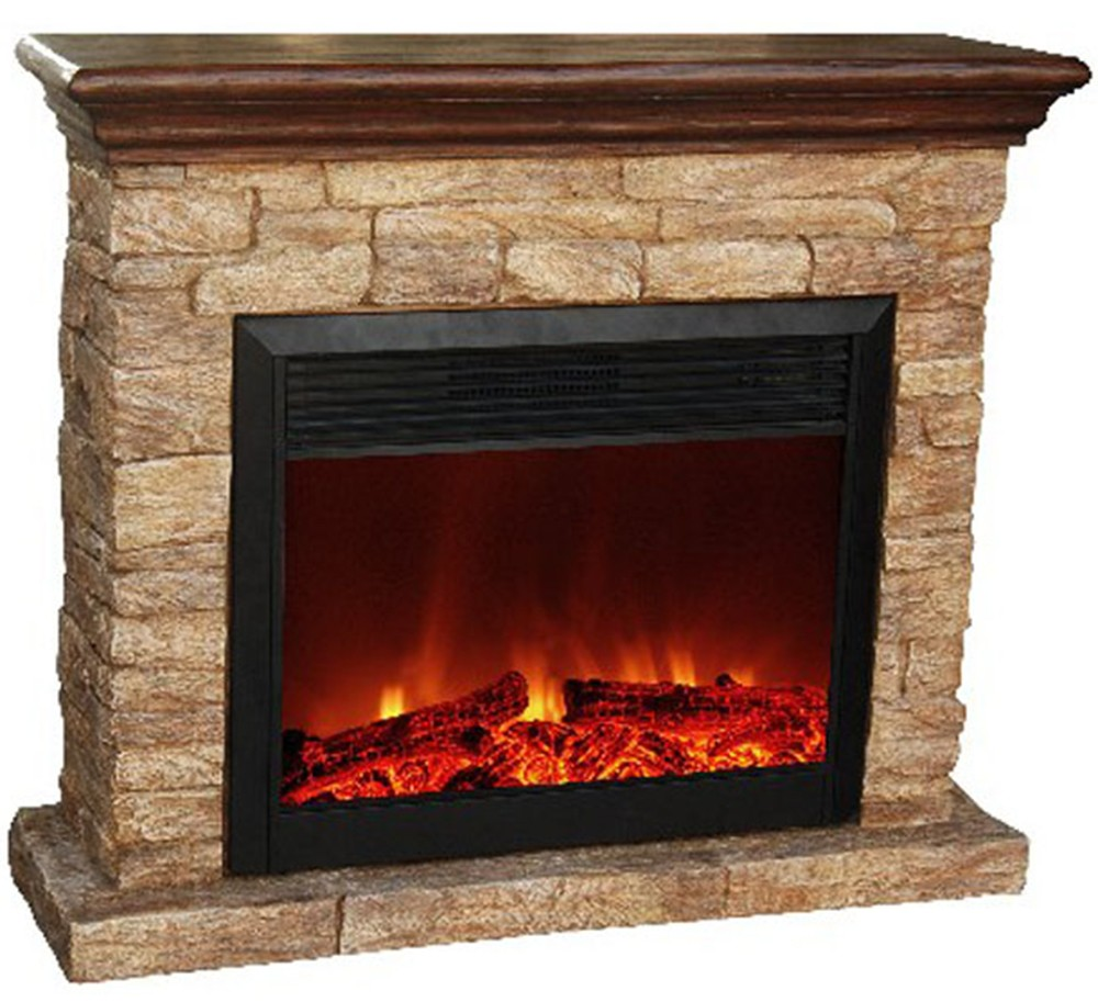 Classic Flame Simulated Log Set Electric Fireplace No Heat