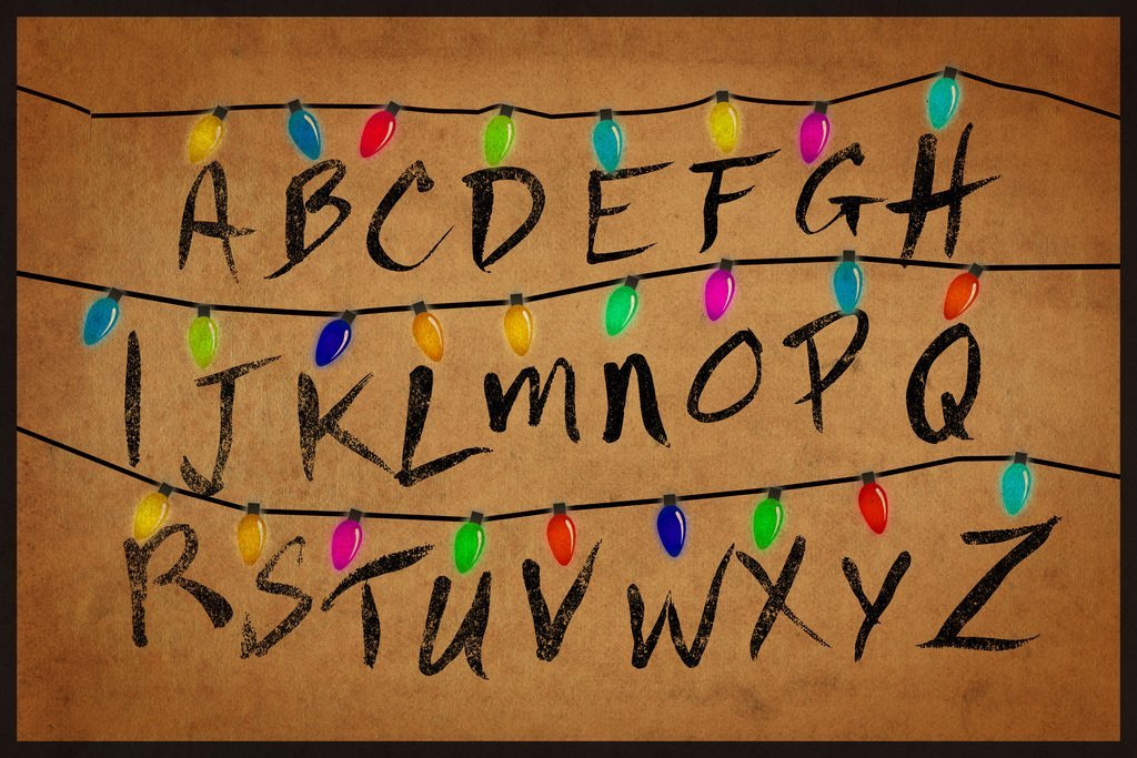 Buy Christmas Lights Alphabet From Stranger Things TV Show Poster ...