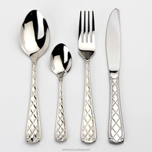 Olinda 18/10 Real Stainless Steel silverware set 20 pcs Flatware set hammered flatware silverware