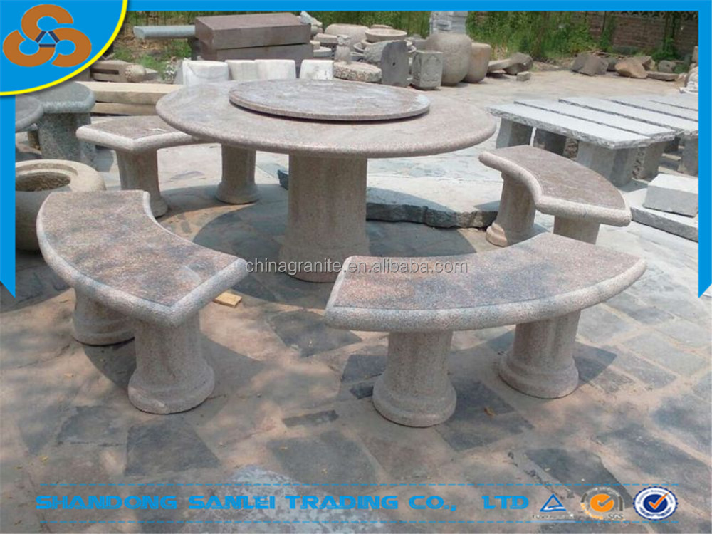 Restaurante muebles de jard n mesa de piedra y un banco para la venta productos de piedra para - Venta de piedras para jardin ...