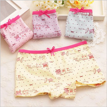 2016 Summer new female children baby cute cartoon printed cotton underwear girls underwear boxer briefs wholesale