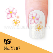 flower design finger nail water seal protect