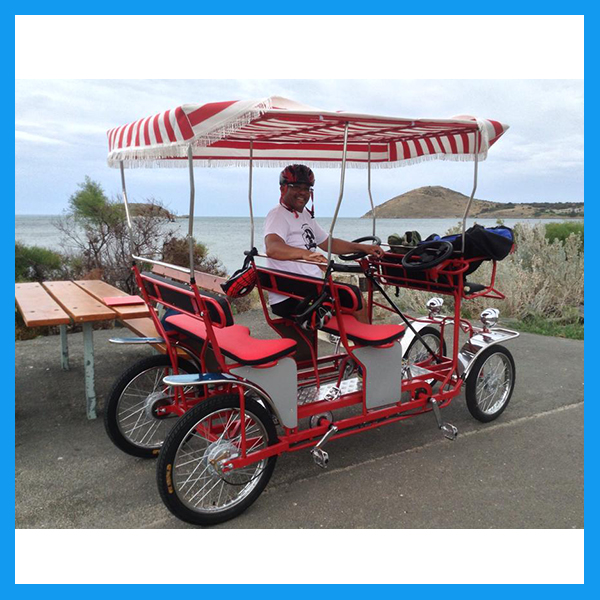 4 and 2 Person Used Quadricycle Surrey Sightseeing Bike
