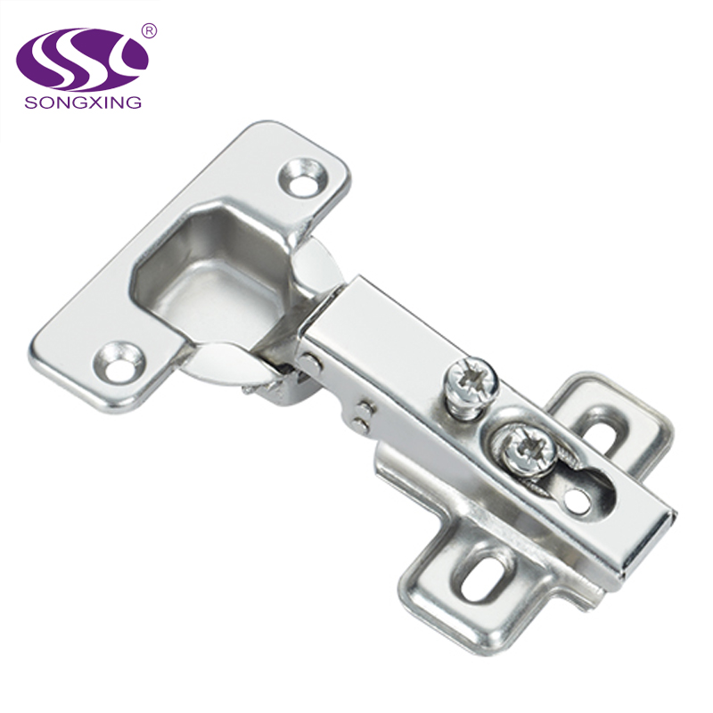 60g 1 way 2/4 holes iron cabinet hinge
