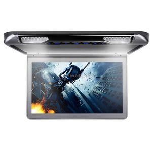 XTRONS 13.3 inch Ultra-thin 1920x1080 motorized flip-down car monitor with HDMI Port/SD/USB/IR/FM