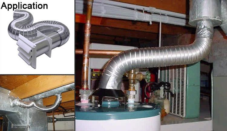 Air Conditioner Fiberglass Hvac Insulated Flexible Air