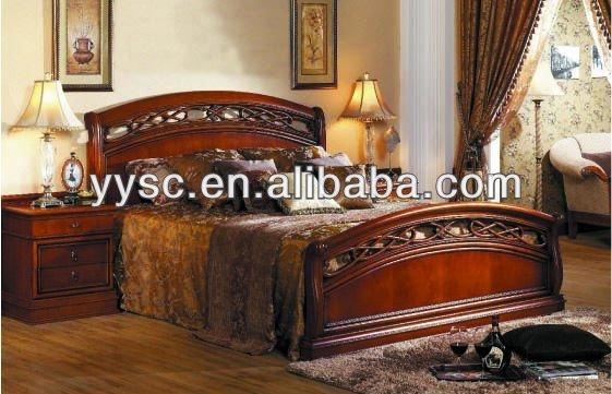 Muebles de dormitorio king size cama de madera camas for Cama king size de madera