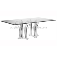 Acrylic/Perspex Square Shaped Dining Table,Dining table base