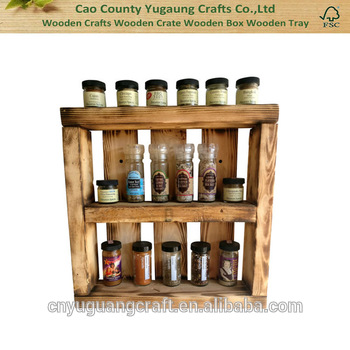 Kitchen Decor Wall Decor Pallet Wooden Spice Rack Pallet Spice Rack