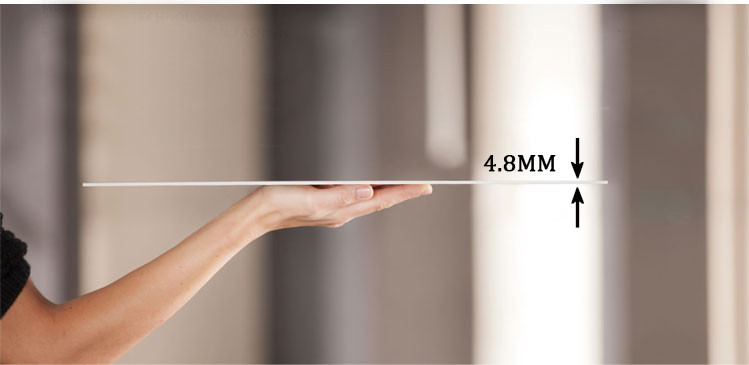 4.8mm thickness Exhibition building Thin ceramic tile