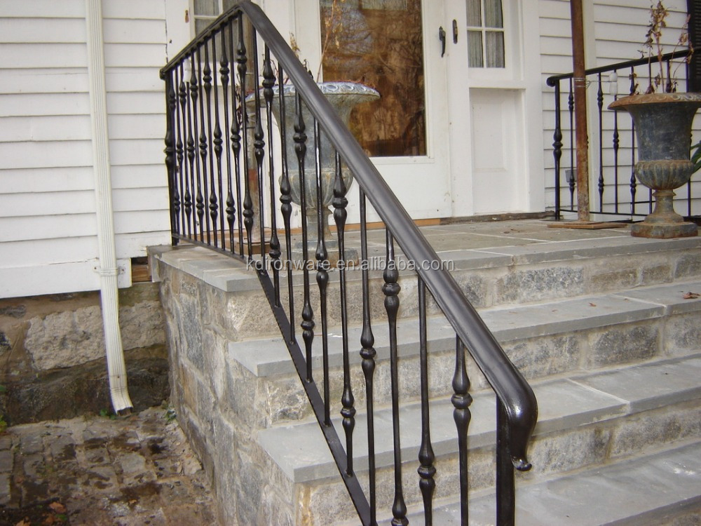 Wrought iron railings for outdoor stair steps lowes buy - Exterior wrought iron handrails for steps ...