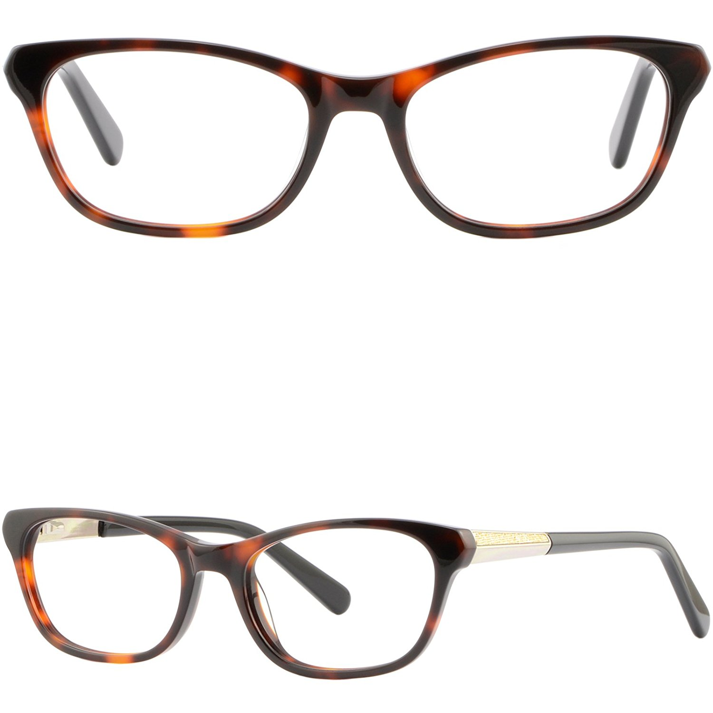 9d58c958964 Get Quotations · Rectangular Plastic Frames Womens Acetate RX Glasses  Spring Hinges Tortoiseshell