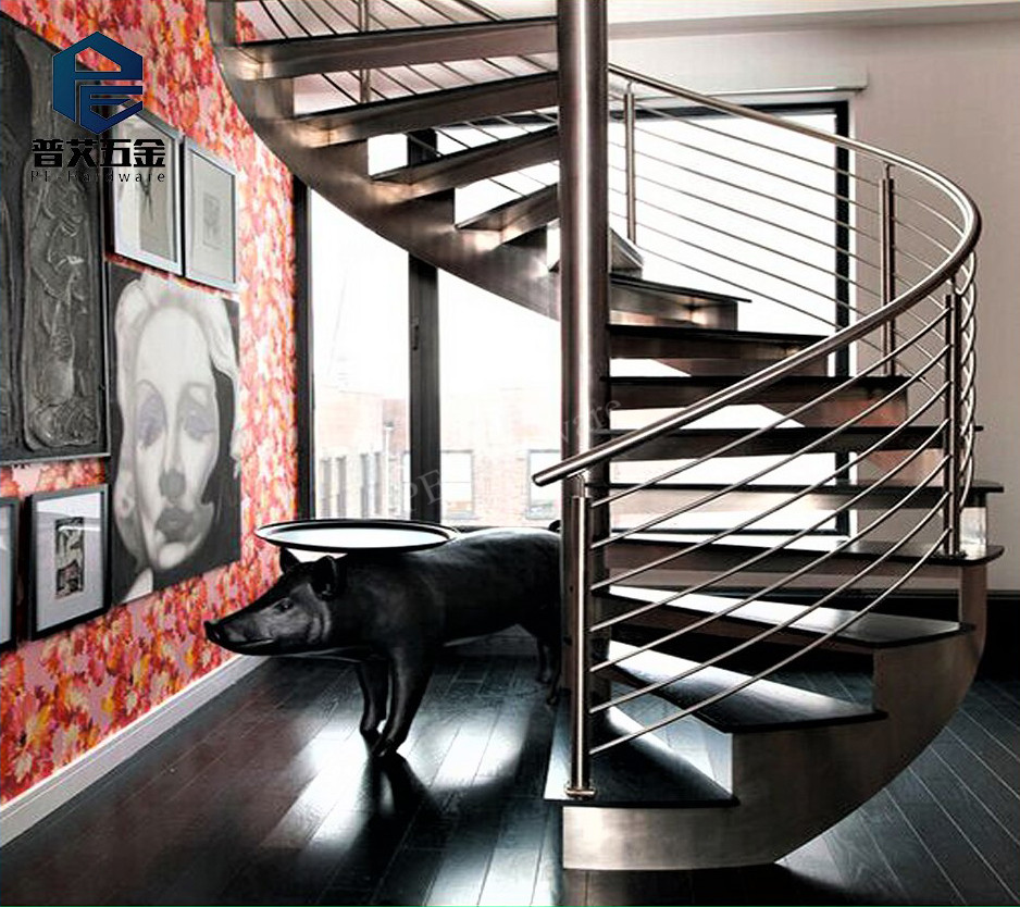 Indoor/Outdoor Populaire Moderne Staal Hout Spiraal Trappen/Trappen