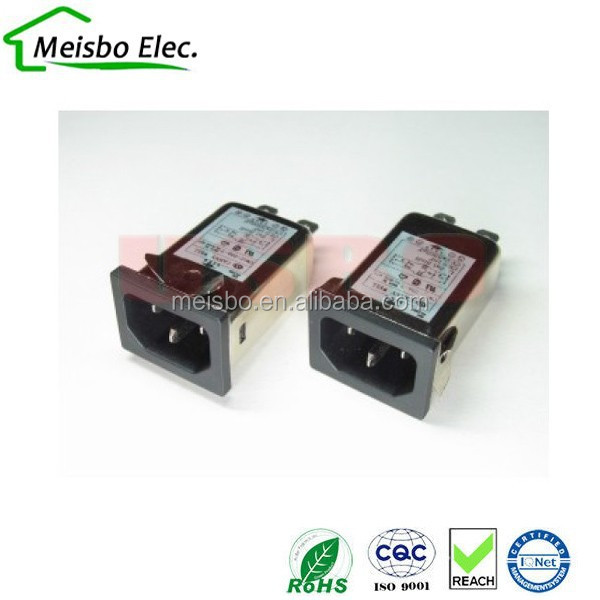 Wholesale IEC320 115/250VAC emi rfi noise filter