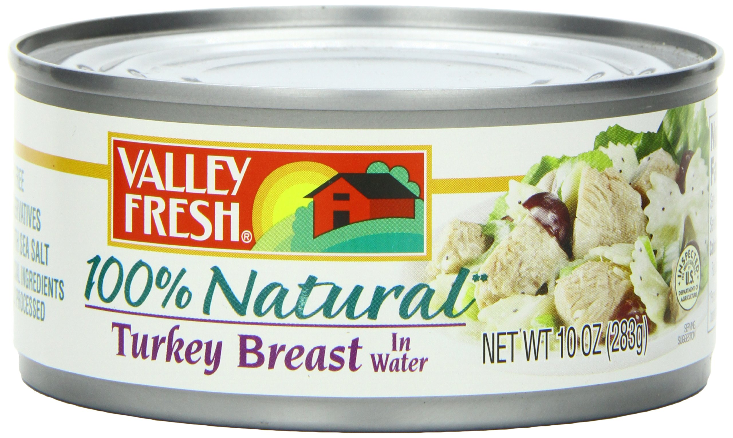 Valley Fresh 100% Natural White Turkey Breast in Water, 10-Ounce Cans (Pack of 12)
