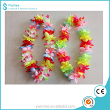 Yiwu Riches Polyester Wholesale party decoration hawaiian silk flower lei garland pe tube