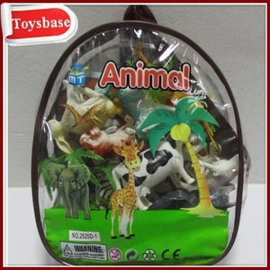 Plastic toy animal playsets